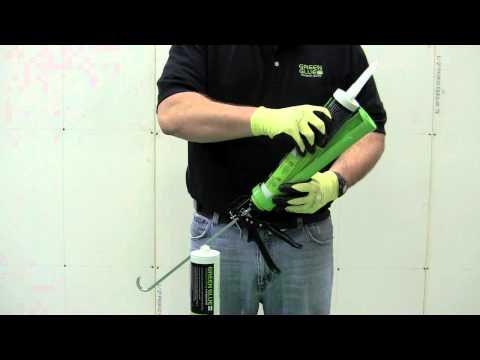 Applying Green Glue Noiseproofing Compound