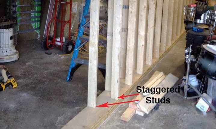 staggered stud wall