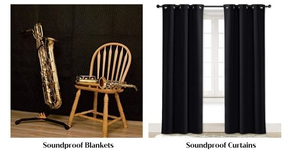Soundproof Curtains or Blankets_