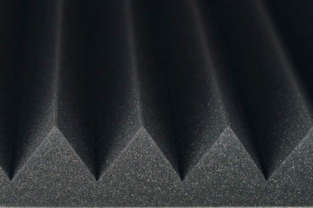Installing soundproof foam in home or studio is easy using foam like that shown in this file photo.