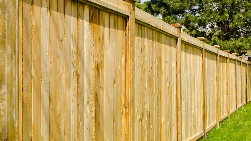 wooden fence to soundproof